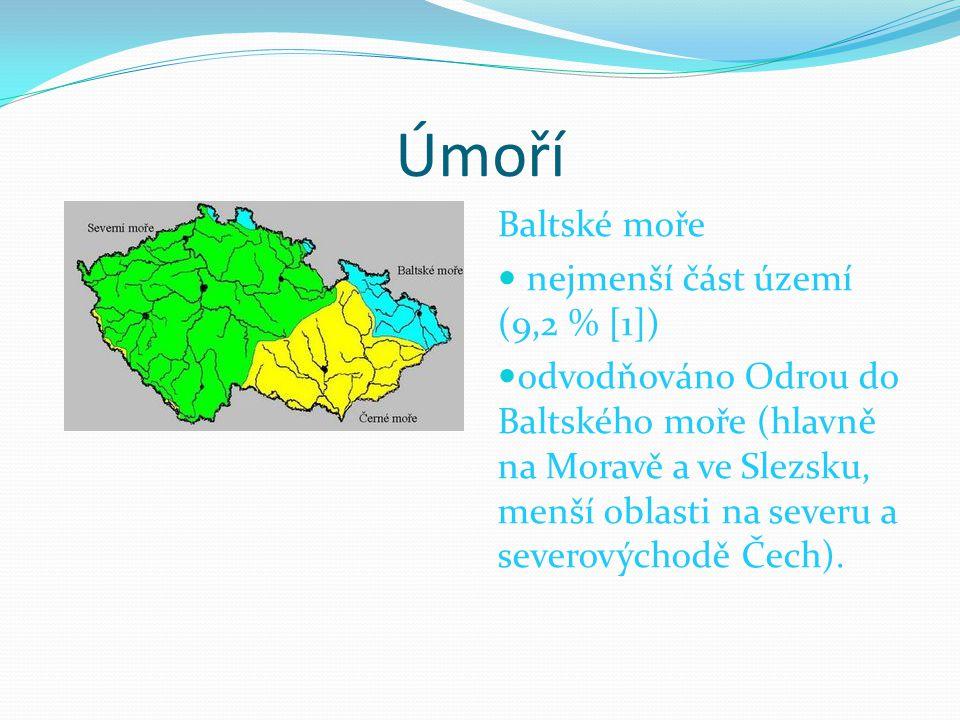 Úmoří Baltské moře nejmenší část území (9,2 % [1])